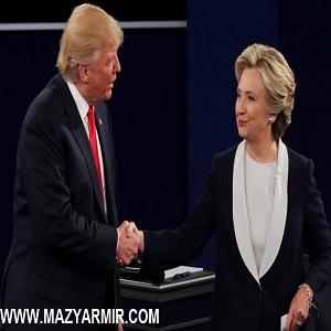 زبان بدن هیلاری کلینتون و دونالد ترامپ